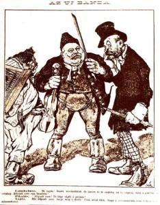 Bér Dezső – A Borsszem Jankó karikatúrája