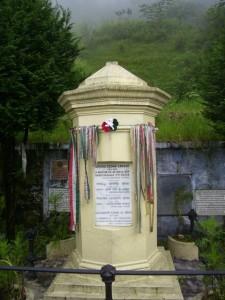 Kőrösi Csoma Sándor síremléke Darjeelingben