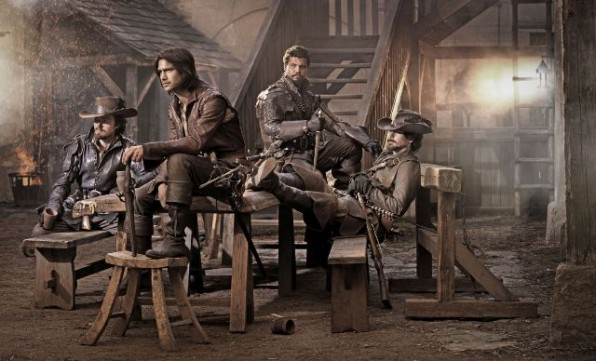 Picture shows: Athos (TOM BURKE), D�Artagnan (LUKE PASQUALINO), Porthos (HOWARD CHARLES) and Aramis (SANTIAGO CABRERA)