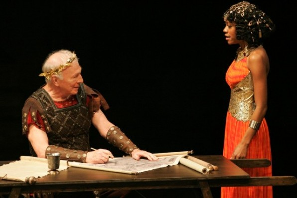 Christopher Plummer as Caesar and Nikki M. James as Cleopatra