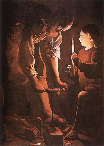 Georges de la Tour_ Szent József, az ács XVII. század, Louvre Párizs