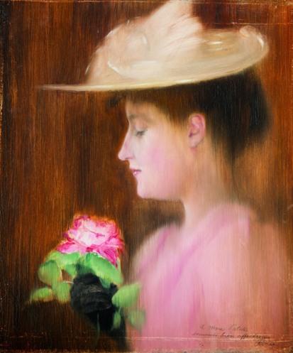 Rippl-Rónai József: Patakiné portréja, 1892