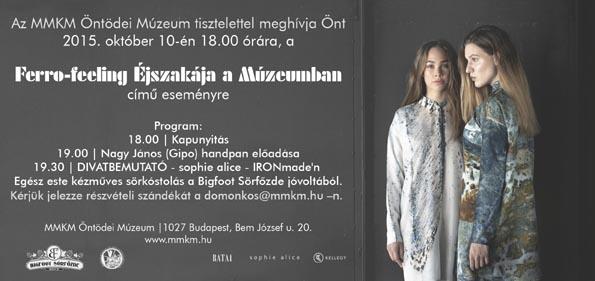 IRONmade'n kollekció – Divatbemutató az Öntödei Múzeumban