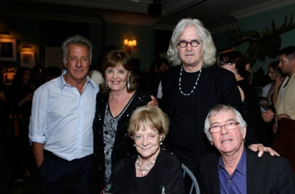 """TORONTO, ON - SEPTEMBER 09:  (L-R) Actor/director Dustin Hoffman, actress Pauline Collins, atress Maggie Smith, actor Billy Connolly and actor Tom Courtenay attend The Weinstein Company film premiere party hosted by Grey Goose for """"Quartet"""" at Soho House Toronto on September 9, 2012 in Toronto, Canada.  (Photo by Jeff Vespa/Getty Images)"""