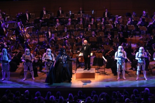 XX onstage at Los Angeles Philharmonic's Walt Disney Concert Hall Opening Night Gala on September 30, 2014 in Los Angeles, California.