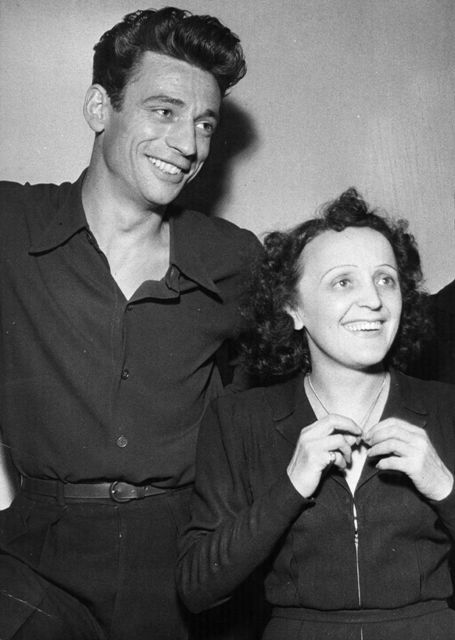 Yves Montand, the French singer and actor with Edith Piaf (1915 - 1963) the legendary French chanteuse.    (Photo by Hulton Archive/Getty Images)