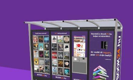 Könyvautomatákkal ünnepli szülinapját a Book24 webáruház