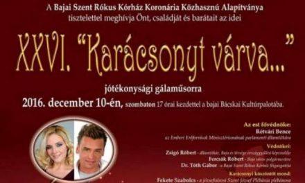 Karácsonyt várva – Jótékonysági gálaműsor Baján, a Bácskai Kultúrpalotában