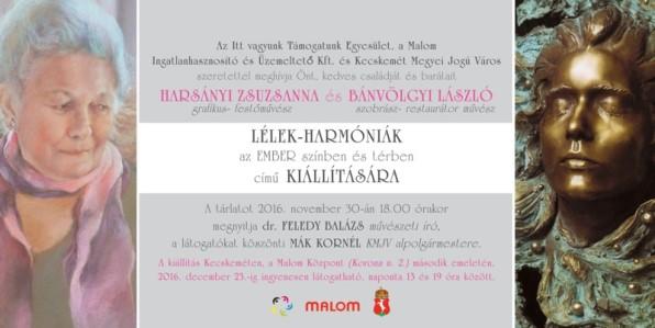 Lélekharmóniák – Harsányi Zsuzsanna és Bánvölgyi László kiállítása a Malomban