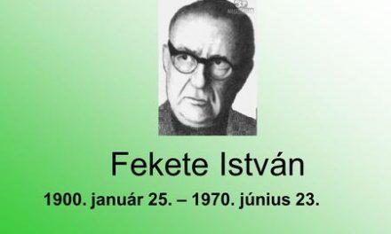 Fekete István 117. születésnapjára