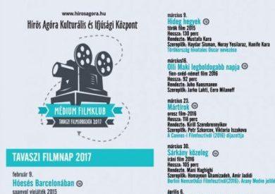Tavaszi Filmklub programja – Hírös Agóra