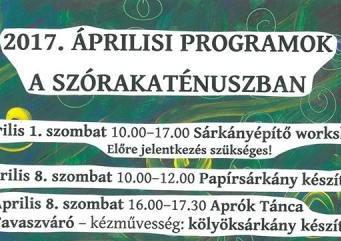 Szórakaténusz Játékmúzeum és Műhely programok áprilisban