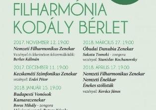 Filharmónia Kodály Bérlet ajánlata a 2017/18-as évadra