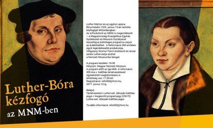 Luther és Katharina kézfogója a Nemzeti Múzeumban