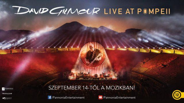 Pink Floyd dallamok Pompejiből – David Gilmour koncertfilmje a mozikban