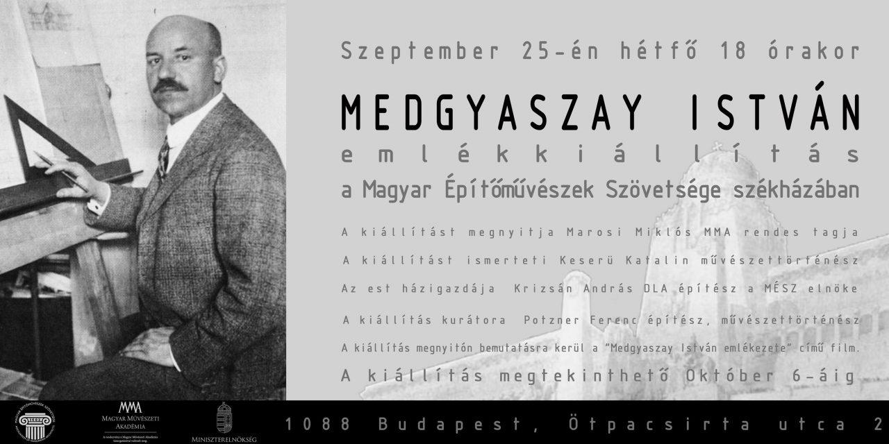 Medgyaszay István emlékkiállítás Budapesten