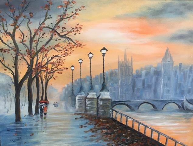 Tomozi Gizella a festészetben éli meg a csodát