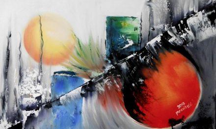 Vörös Ferencné Babi nyugdíjasként állt a festővászon elé