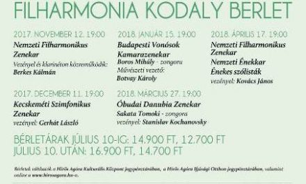 Filharmónia Kodály Bérlet Kecskemét, 2017-2018