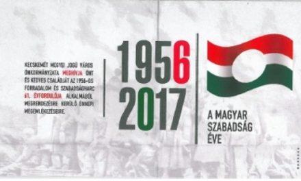'56-os rendezvények október 23-án Kecskeméten