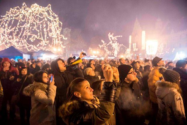 Tűzijáték és főtéri szilveszteri buli Kecskeméten