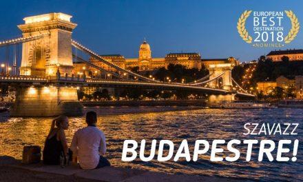 Legyen idén Budapest a legjobb európai úti cél!