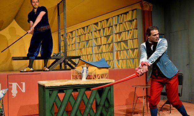 Ruy Blas – Királyasszony lovagja: Háromdimenziós festmény a színpadon