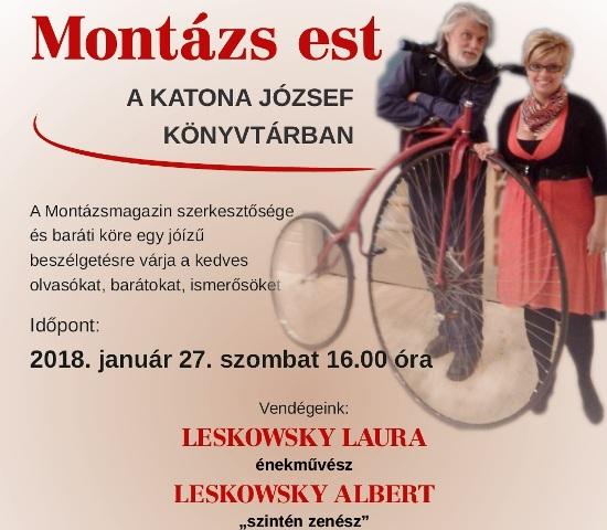 Leskowsky Laura és Albert a januári Montázs est vendégei