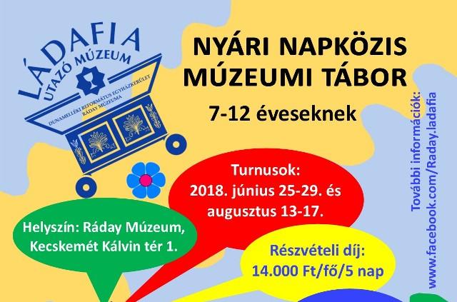 A Ládafia Utazó Múzeum Nyári Tábora a Ráday Múzeumban