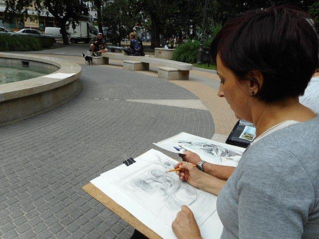 Bemutatjuk Csernus Erzsébet akvarellfestőt