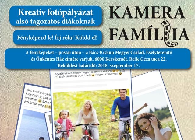 Kamera Família kreatív fotópályázat CSALÁD témában