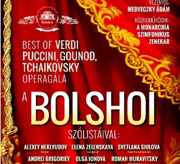 A világhírű Moszkvai Bolshoi Színház szólistái Magyarországon