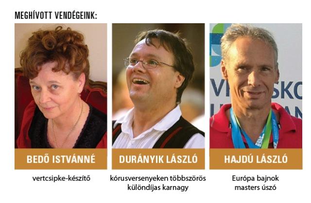 Hírös kecskemétiek: Bedő Istvánné, Durányik László és Hajdú László