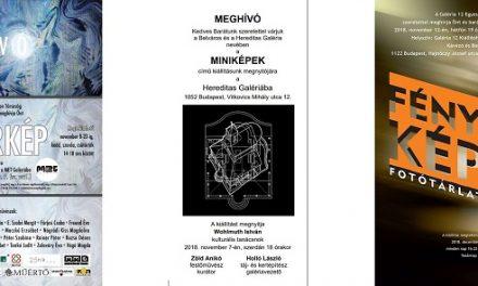 3 kiállítás ajánló – KörKÉP-MiniKÉPek-FényKÉP