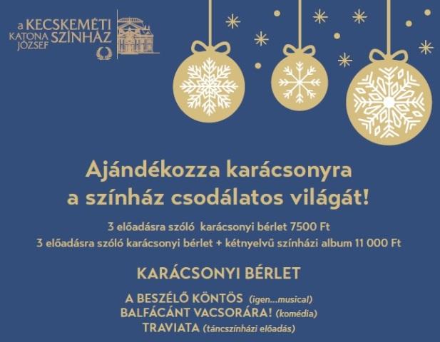 Ajándékozza karácsonyra a színház csodálatos világát!