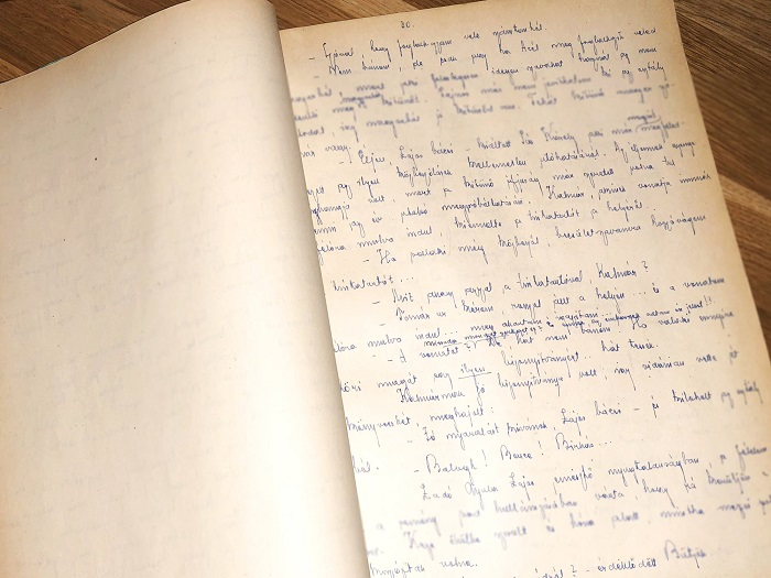 """A """"Tüskevár"""" eredeti kézirata a Bükk szívében lelt új otthonra"""