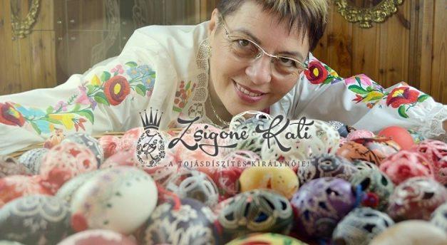 Zsigóné Kati beszélő húsvéti tojása