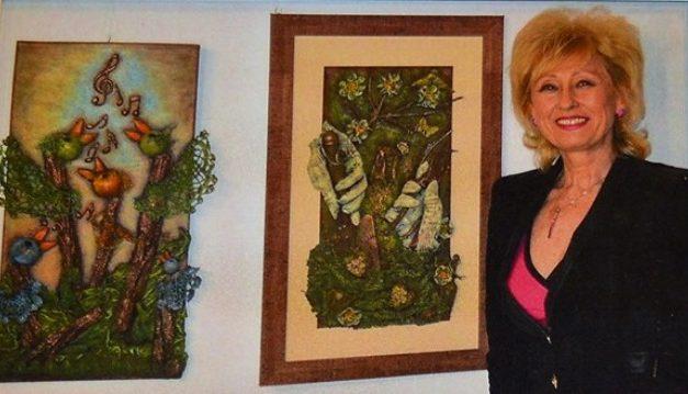 Kerekesné Éva textilszobrász pozitív életérzést szeretne kelteni alkotásaival
