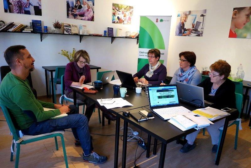 Sárközy Erika szociológus, újságíró, a kecskeméti CédrusNet megálmodója