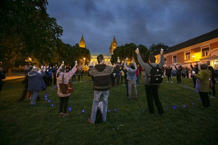 Világörökségi flashmob Pécsett, a Kulturális Örökség Napjain