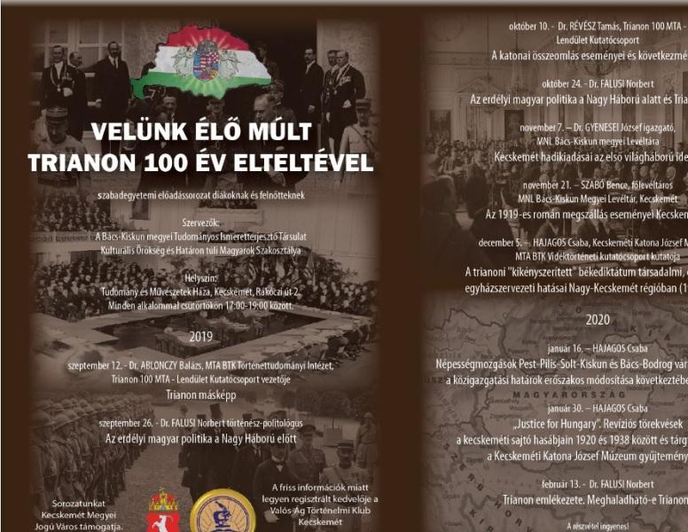 Előadások – Velünk élő múlt. Trianon 100 év elteltével