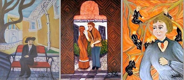 """Doszkocs Zsuzsa festőművész """"Szentendrei múzeumok és művészek"""" című kiállítása az OORI-Galériában"""