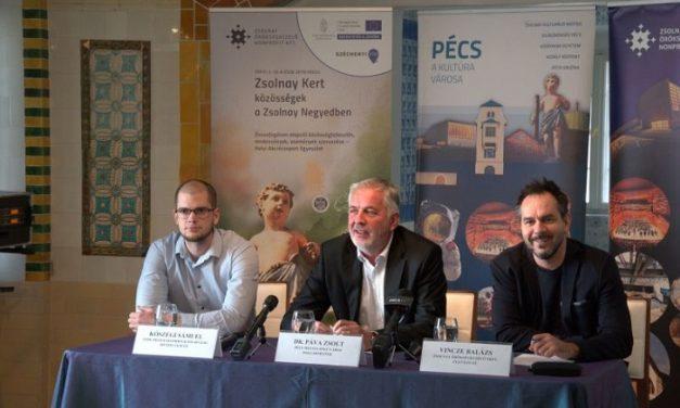 Októberben több mint 250 ingyenes programmal indul a Zsolnay Kert projekt