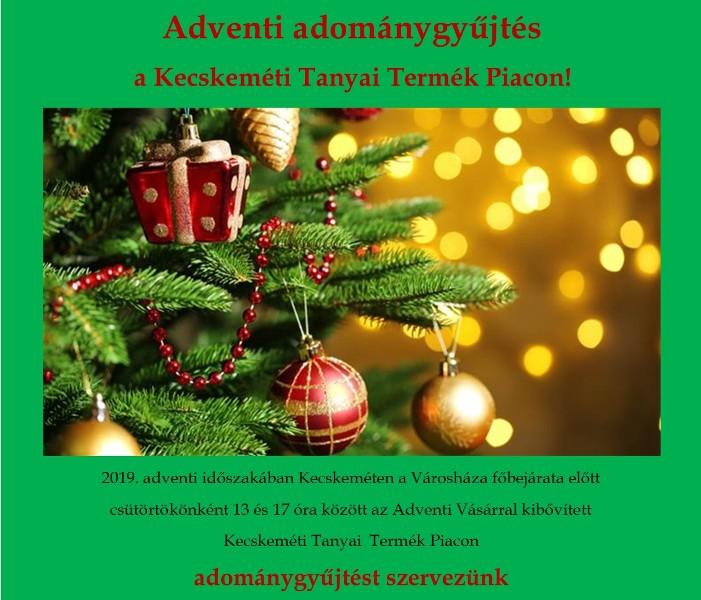 Adventi adománygyűjtés a Tanyai Termék Piacon