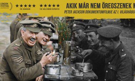 Peter Jackson dokumentumfilmje a Nagy Háború színes felvételeivel a mozikban