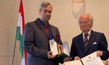 Kanizsa József Óbuda Kultúrájáért kitüntetésben részesült