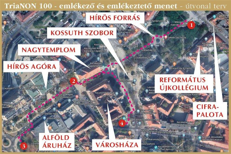 TriaNON100 emlékező menet Kecskeméten
