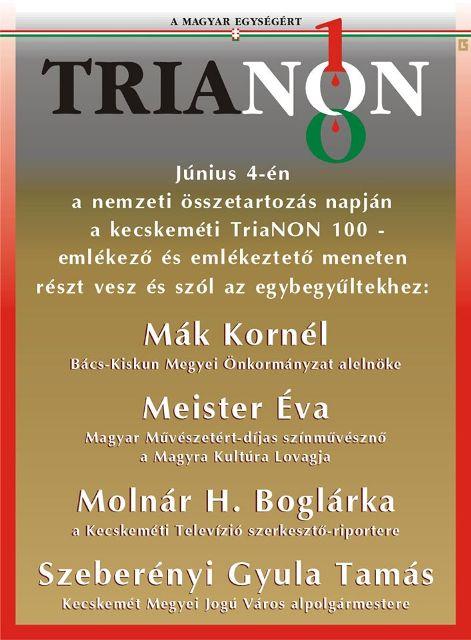 trianon100 menet kecskemeten