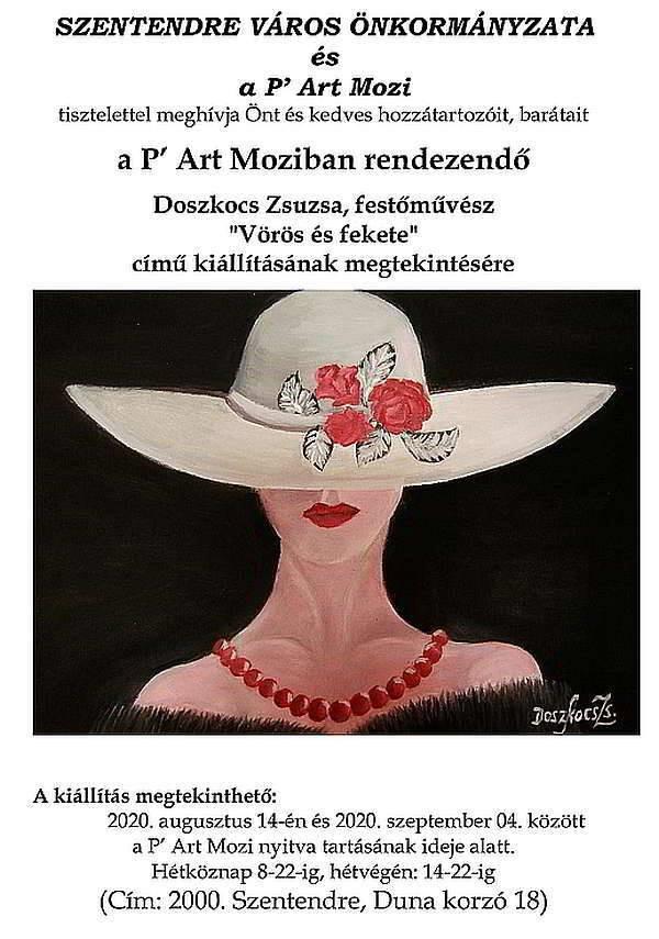 Vörös és fekete – Doszkocs Zsuzsa kiállítása Szentendrén