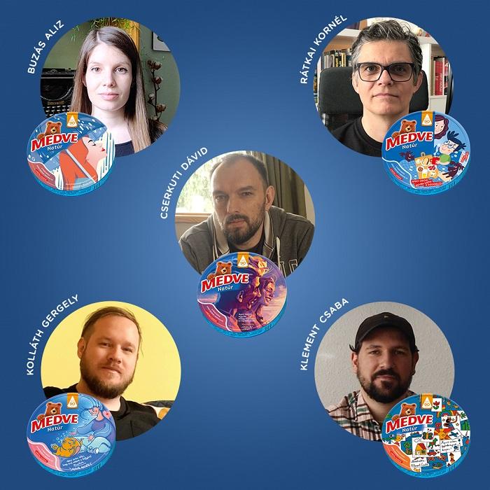Magyar művészek rajzaival ünnepel a Medve sajt